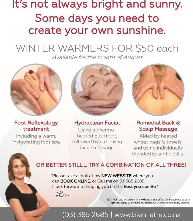 Special offers for beauty treatments